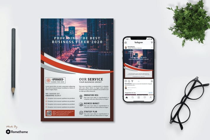 Thumbnail for Upgraded - Business Flyer and Instagram Post HR