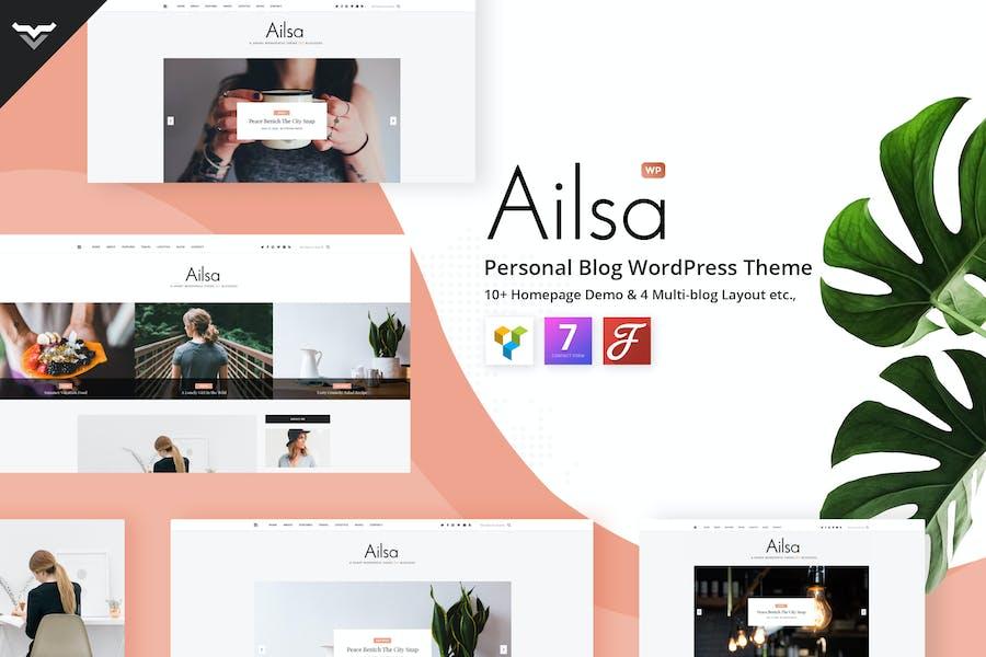 Ailsa - Blog Personal WordPress Tema