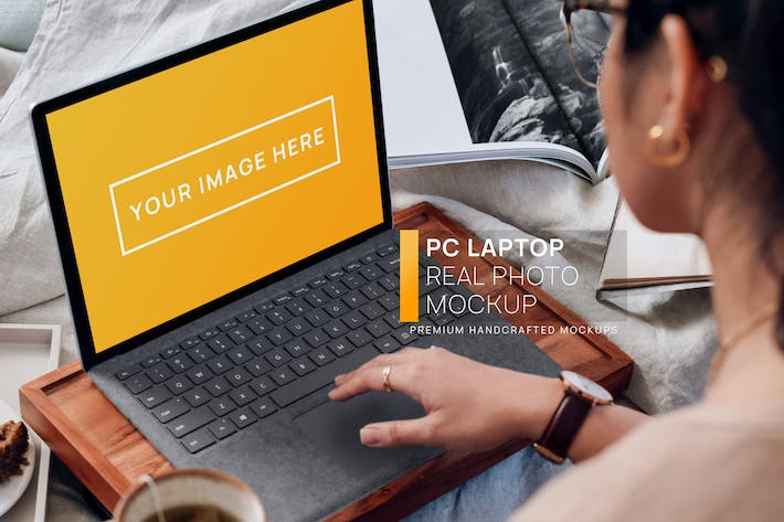 Thumbnail for PC Laptop Workplace Real Photo Mockup