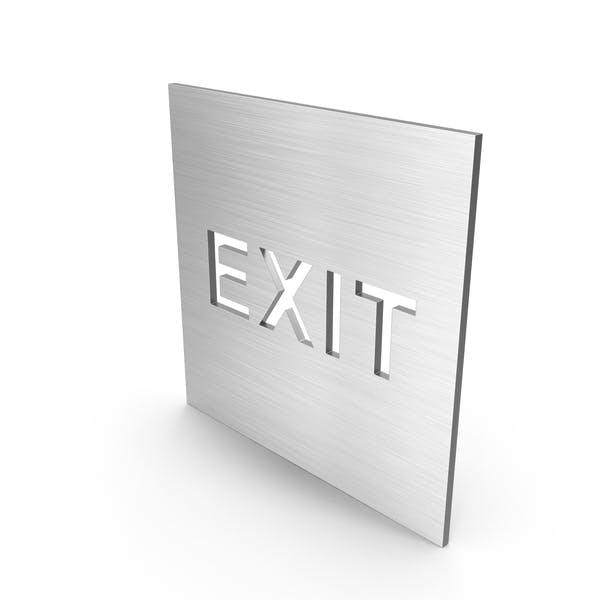 Edelstahl Exit Schild