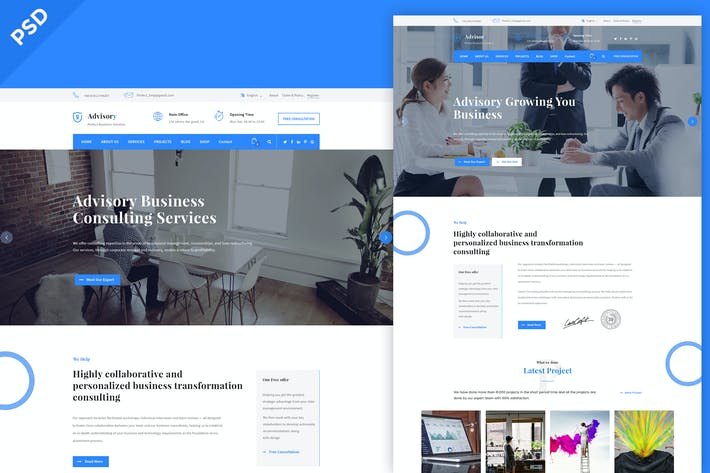 Thumbnail for Advisory - Business Coach & Consultin PSD Template