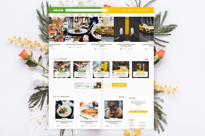 Boodo WP - Essen und Magazine Shop WordPress Thema