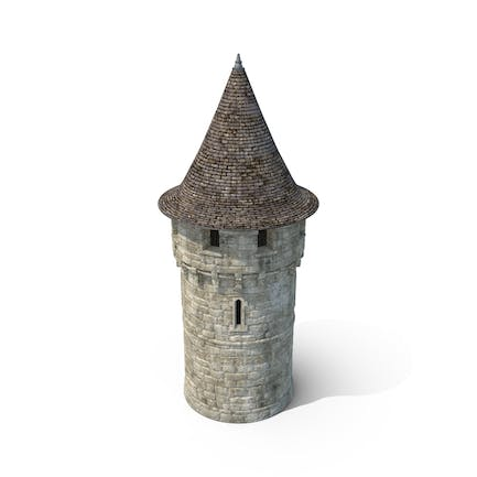 Round Turret with Roof