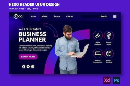 Business Develop – Hero Header Website Template