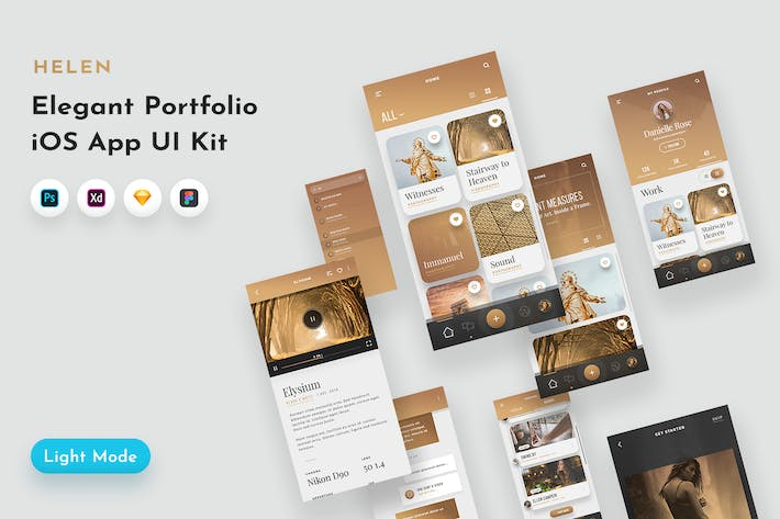 Thumbnail for Helen iOS UI Kit