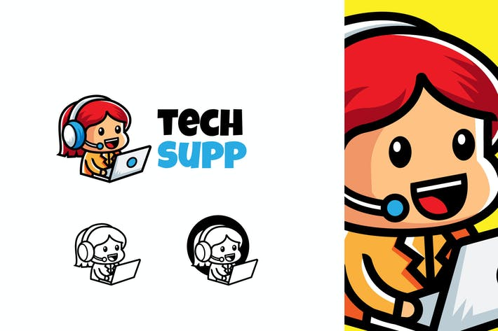 Thumbnail for Tech Support - Mascot & Esport Logo