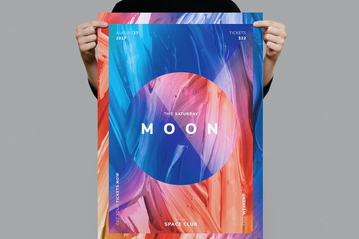 Thumbnail for Moon Flyer / Poster Template
