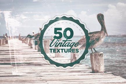 50 Vintage-Maserung Texturen
