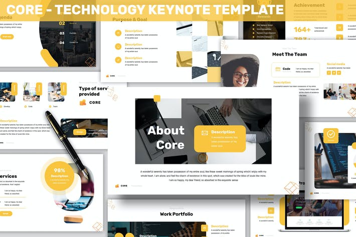 Thumbnail for Core - Technology Keynote Template