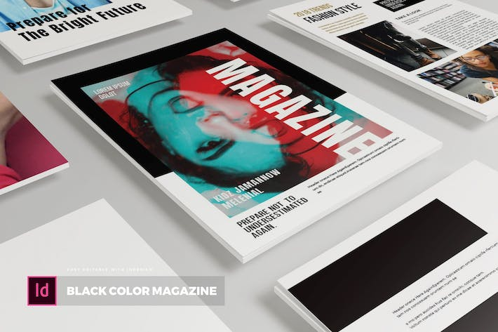 Thumbnail for Black Color | Magazine Template