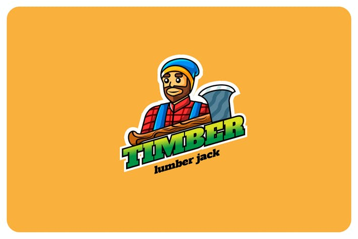 timber lumber - Mascot & Esport Logo