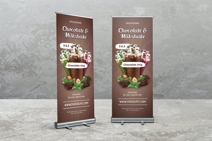 Cover Image For Schokoladen-Roll Up Banner