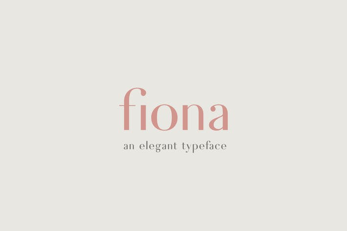 Cover Image For Fiona - An Elegant Typeface