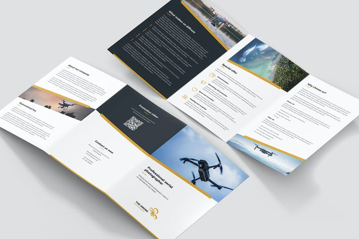 Thumbnail for Brochure – Drone Photographer Tri-Fold A5