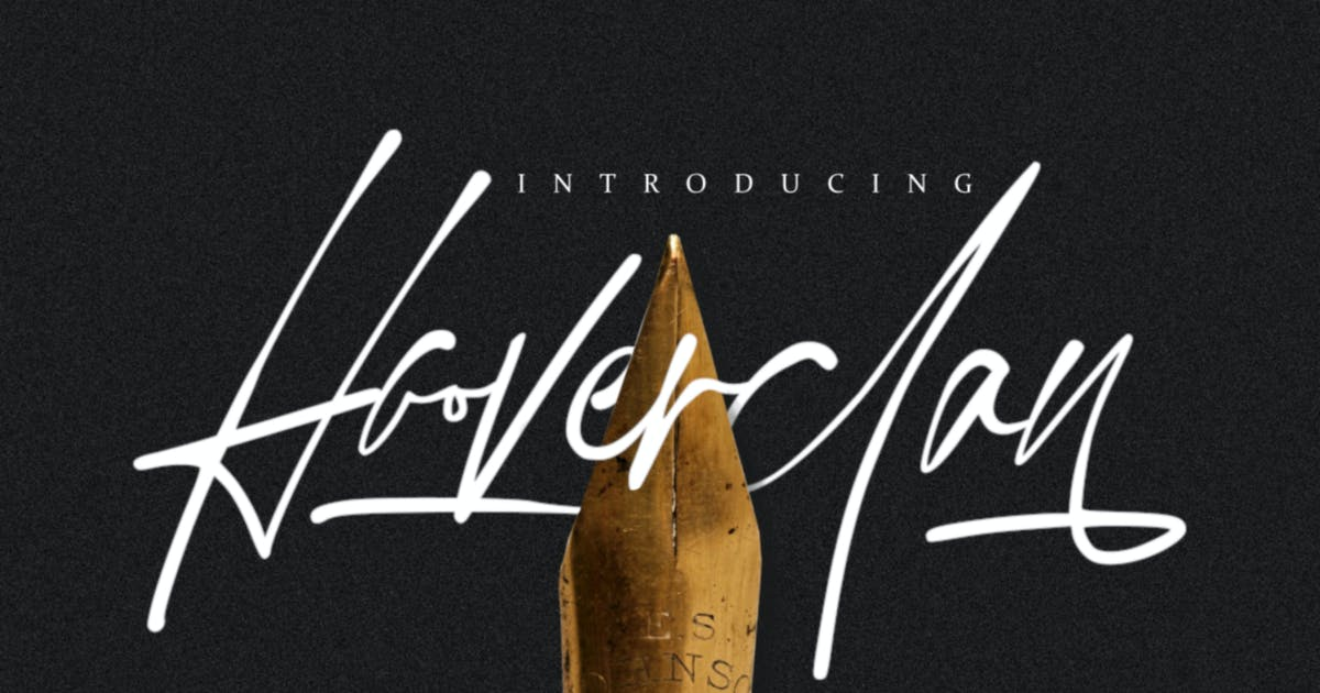 Download Hooverclan - Pen Inked Handwritten by Macademia