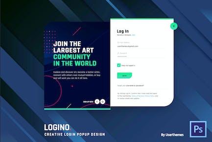 Logino. - Creative Login Popup Forms Template