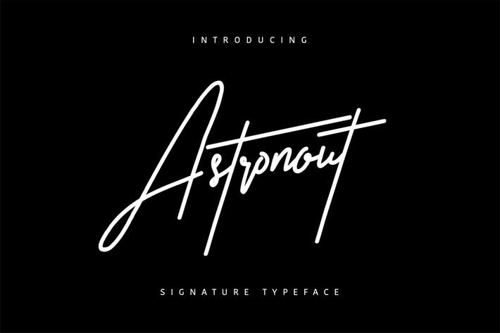 Thumbnail for Astronout Signature Typeface