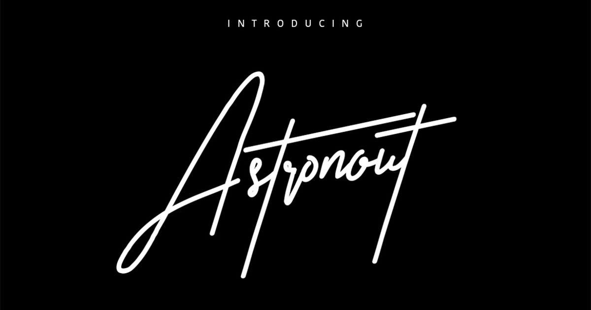 Download Astronout Signature Typeface by maulanacreative