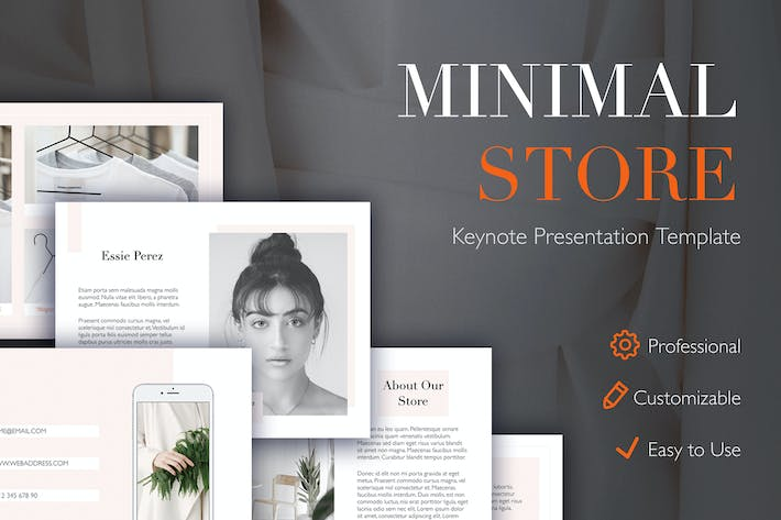 Thumbnail for Minimal Store Keynote Template
