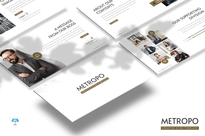 Thumbnail for Metropo - Business Keynote Template