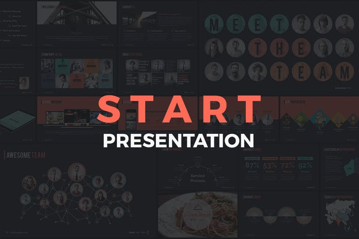 Thumbnail for START - Powerpoint Presentation Template