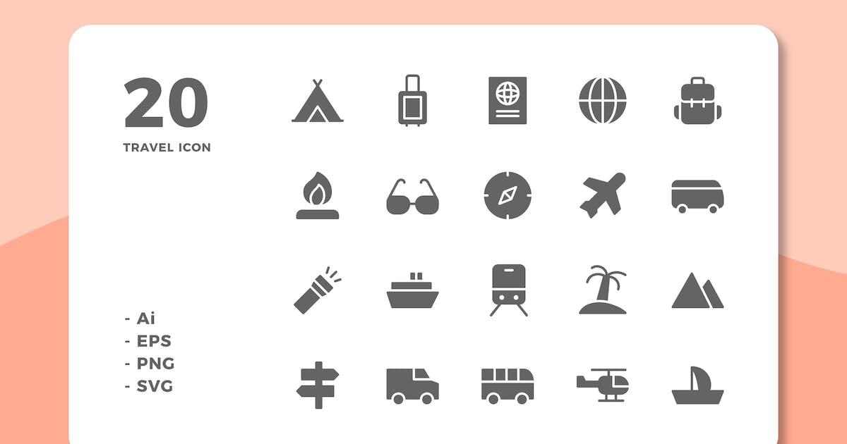 Download 20 Travel Icons (Solid) by deemakdaksinas