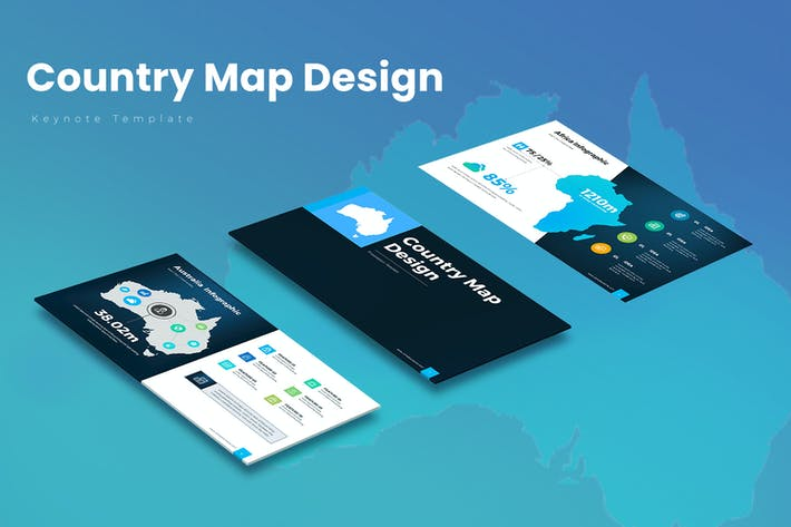 Thumbnail for Country Map Keynote Templates
