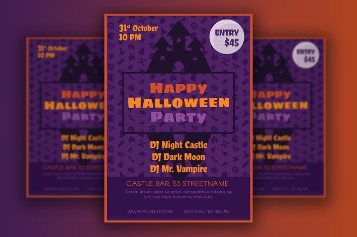 Thumbnail for Halloween Poster With Horror Castle