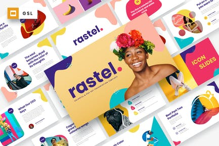 RASTEL - Colorful & Pop Art Google Slides Template