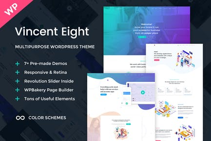 Vincent Eight - Multipurpose WordPress Theme