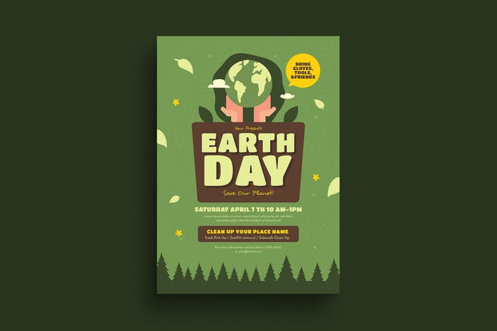 Thumbnail for Earth Day Event Flyer