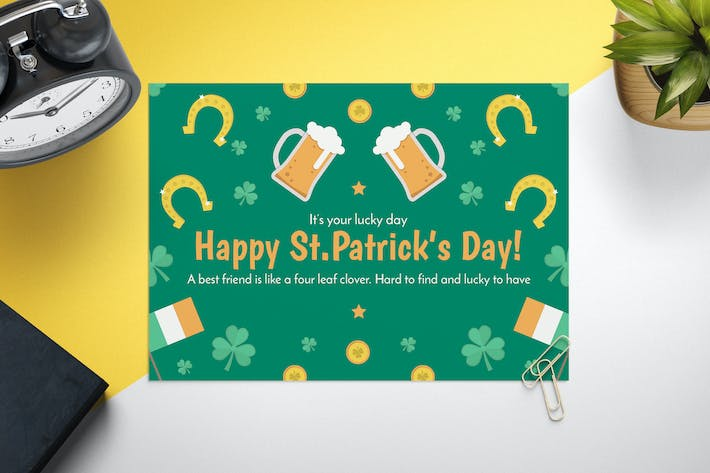 Thumbnail for Saint Patrick's Day Card Template