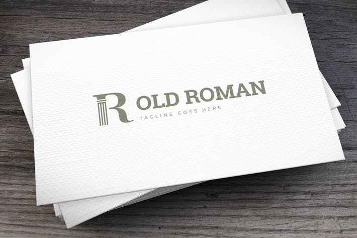 Thumbnail for Old Roman Logo Template