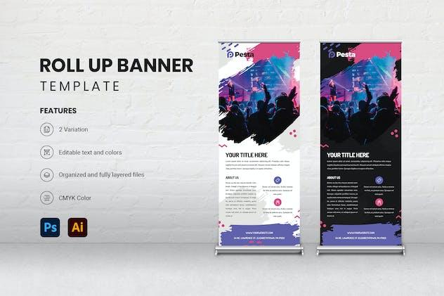 Roll Up Banner - Pesta 1
