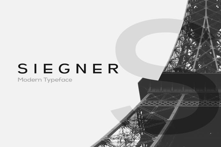 Thumbnail for SIEGNER - Modern Typeface + WebFonts
