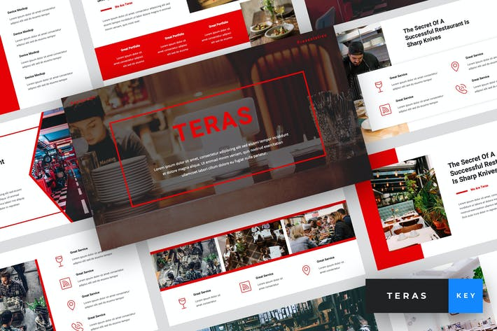 Thumbnail for Teras - Restaurant Keynote Template