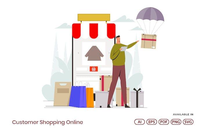 Thumbnail for Customer Shopping Online