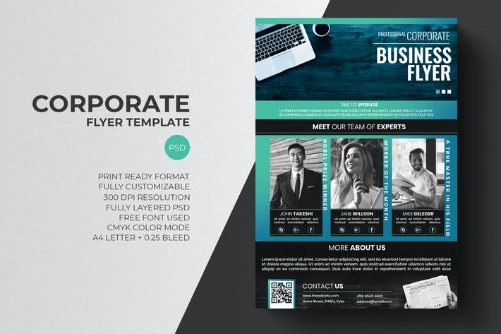 Cover Image For Corporate Flyer Template