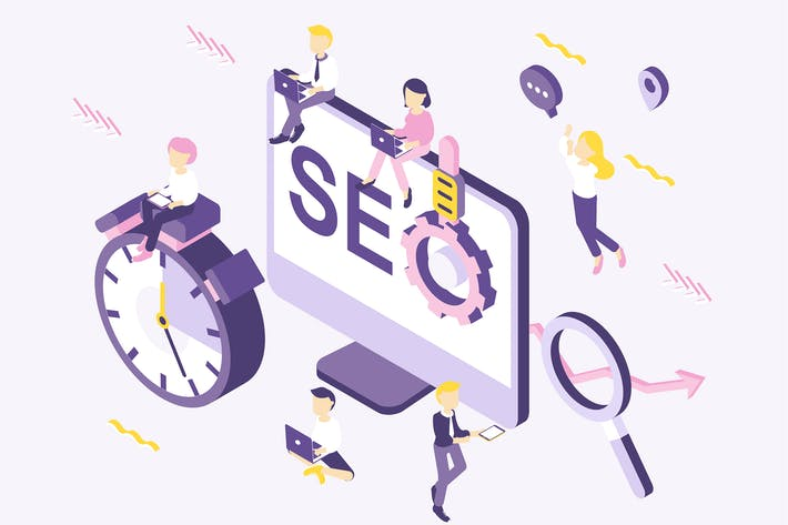 Thumbnail for SEO Isometric Illustration