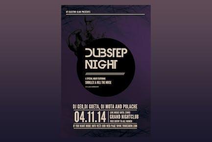Dubstep Night Flyer Poster
