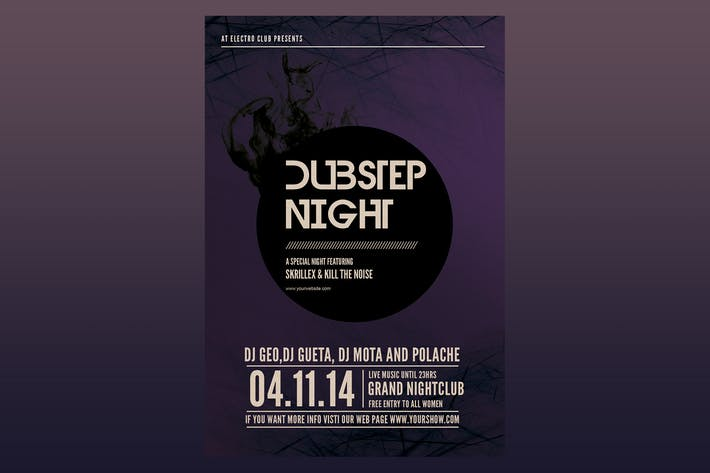 Thumbnail for Dubstep Night Flyer Poster