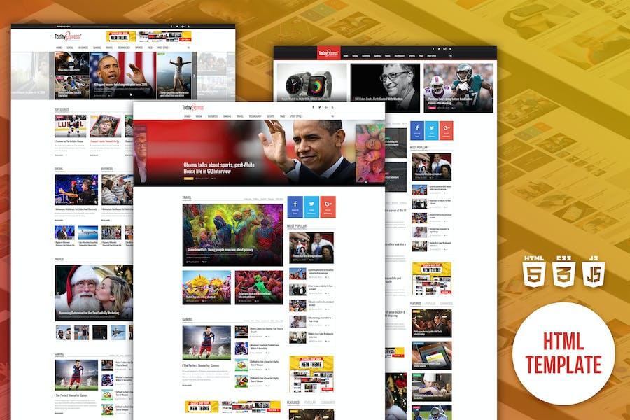 TodayExpress | News & Magazine HTML Template