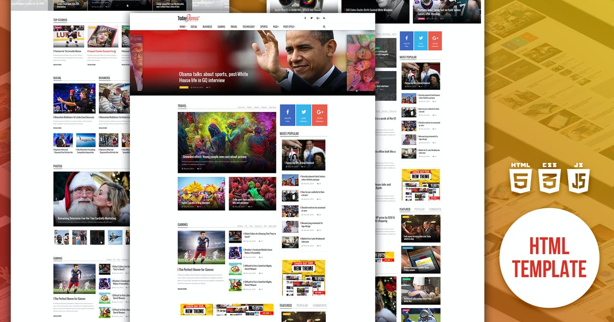 Download TodayExpress | News & Magazine HTML Template by EngoTheme