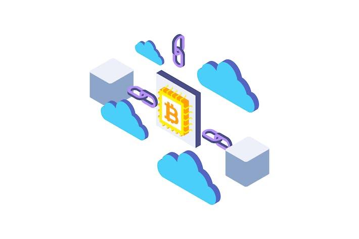 Thumbnail for Blockchain Isometric Illustration