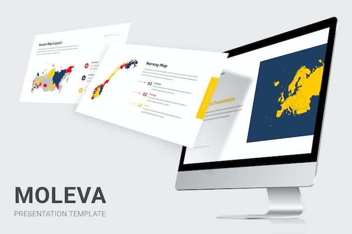 Thumbnail for Moleva - Europe Map Google Slides