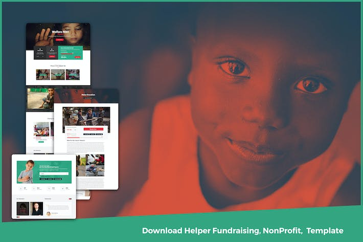 Thumbnail for Download Helper Fundraising, NonProfit,  Template