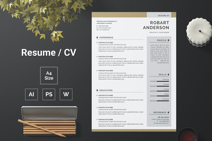 Thumbnail for Resume Template 128