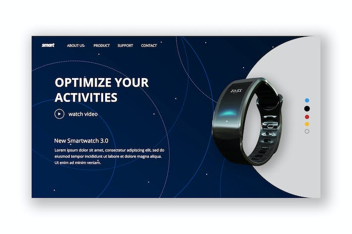 Cover Image For Smart Watch Hero Header Template