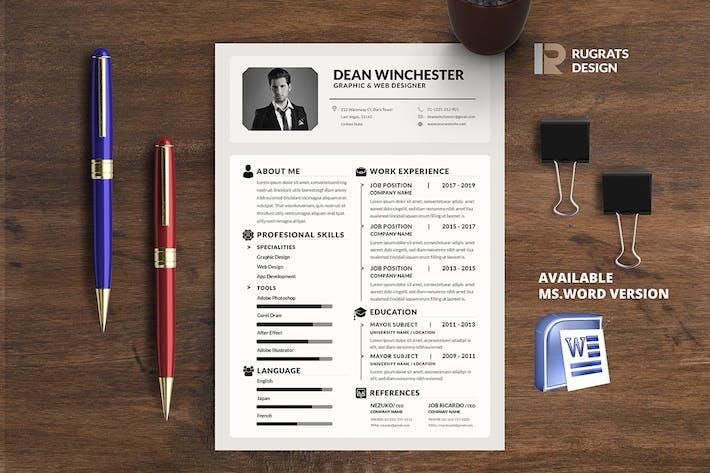 Thumbnail for Minimalist CV Resume R5