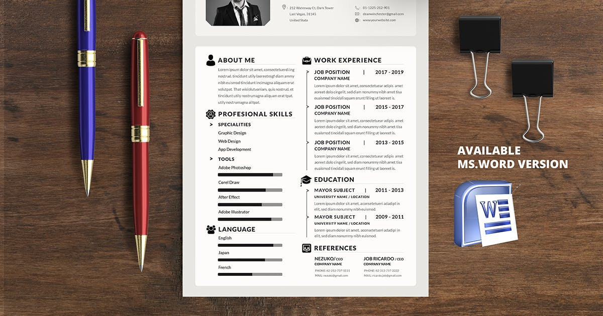 Download Minimalist CV Resume R5 by youwes